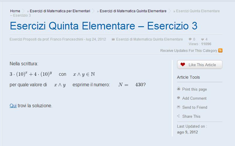 Esercizi di matematica e problemi di geometria, dove ...